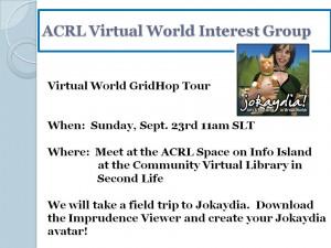 ACRL gridhop to Jokaydia