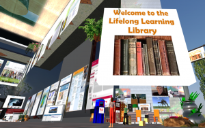 Lifelong Learning Library in a virtual world