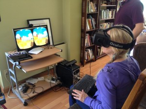 Valibrarian tries Oculus Rift
